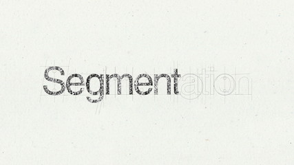 Text animation 'Segmentation' for presentations(included Alpha)