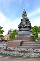 Monument to Catherine the Great on Ostrovsky Square.