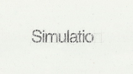 Text animation 'Simulation' for presentations(included Alpha)