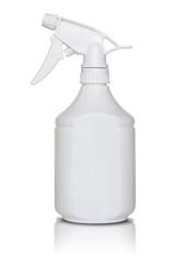 white spray bottle isolated on white