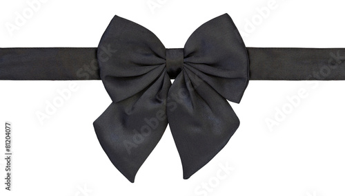 black bow tie isolated on white with clipping path - 81204077