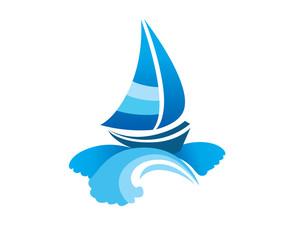 Sail Boat Wave