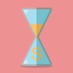 Time is money concept vector illustration