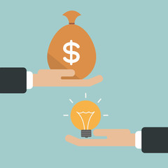 Illustration of idea and money cycle concept vector
