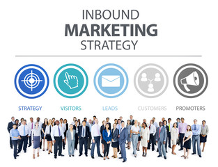 Inbound Marketing Strategy Advertisement Commercial Concept