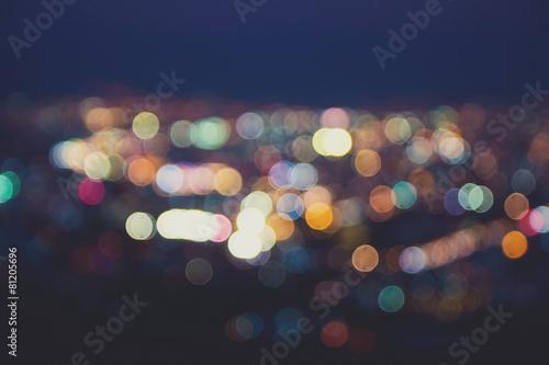 Poster Blurred lights,Vintage effect