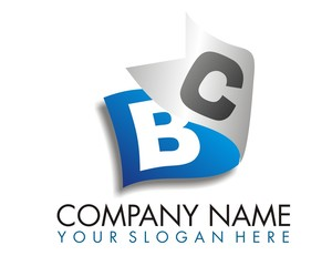 ribbon strand sheet logo image vector