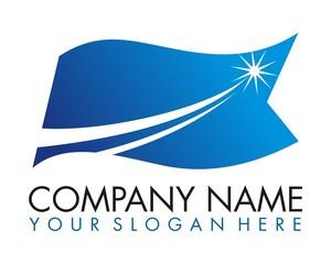 flag star logo image vector