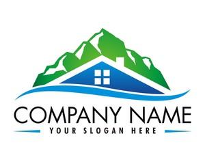 mountain house logo vector