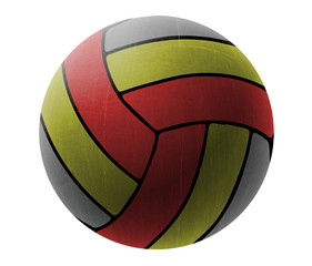 volleyball ball on a white background