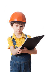 the little engineer with clipboard