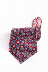 isolated silk tie roll