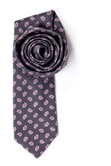 isolated cotton tie folded flower