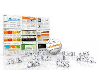 Webdesign, Templates, Programmiersprachen, Website, Homepage, 3D
