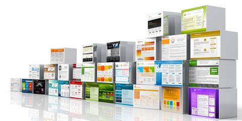 Webdesign, Template, Bausteine, Webbaukasten, Baukasten, Website