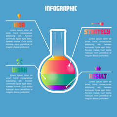 Info Graphic with color  test tube