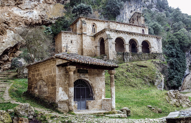 church at the side of the road, Tobera, Burgos