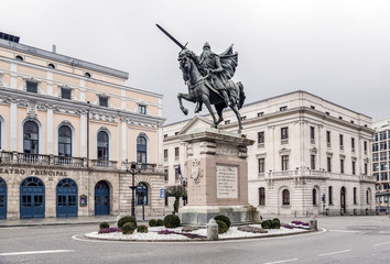 statue of El Cid in Burgos, Spain