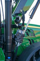 grüner Traktor im Detail