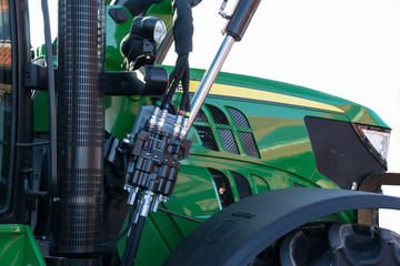 Seitenansicht eines Traktors