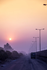 Morning view of highway