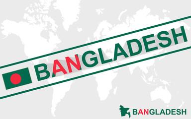Bangladesh map flag and text illustration