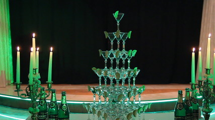 Pyramid holiday glasses