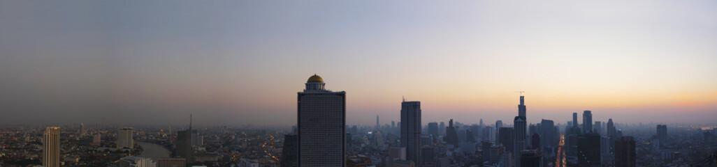 panorama scene of urban building of bangkok capital  thailand la