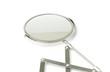 Leinwanddruck Bild - Cosmetic magnifying  mirror isolated on white
