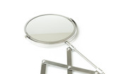 Cosmetic magnifying  mirror isolated on white