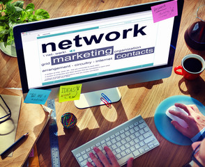 Network Connection Communication Marketing Contact Concept
