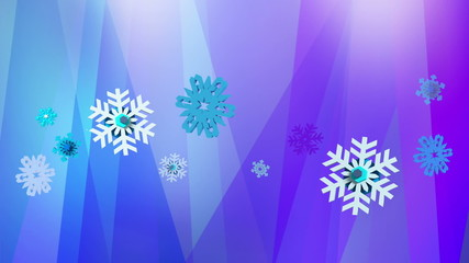 Abstract blue purple background with snowflakes
