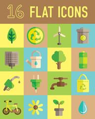 go green flat icon