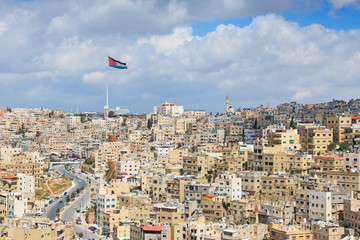 Panoramic view of Amman