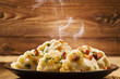 Delicious homemade dumplings with onion and bacon - 81214490