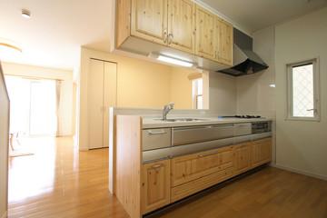 キッチンとリビングルーム イメージ  シンプル家具なし