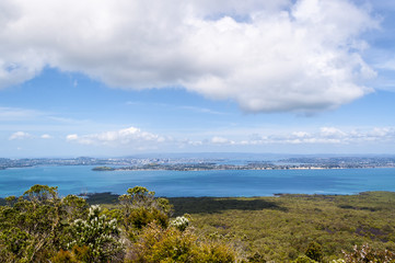 Auckland, New Zealand from Rangitoto Island