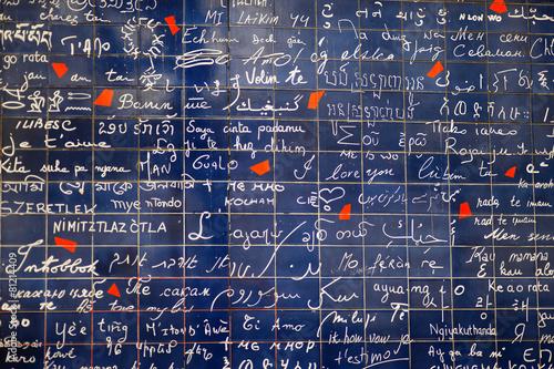 Foto op Plexiglas Wand 'I love you' wall of Paris