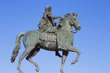 Famous statue of Louis XVI