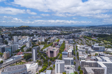 Aerial view of Auckland, New Zealand city scape