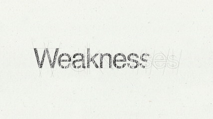 Text animation 'Weaknesses' for presentations(included Alpha)