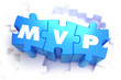 MVP - White Text on Blue Puzzles. - 81215281