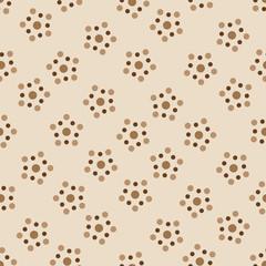 Brown dots seamless pattern