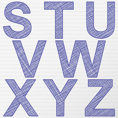 drawing letter S-Z