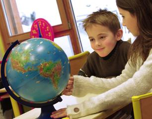 école primaire - cours de géographie