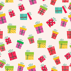 gifts icons seamless pattern. greeting card mothers day