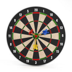 Darts at the center of the isolated target