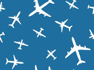 Aircraft seamless pattern