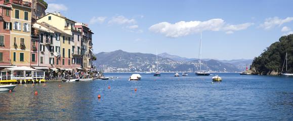 Portofino. Sea view of Tigullio bay