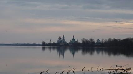 Spaso-Yakovlevsky Monastery in Rostov on a sunset